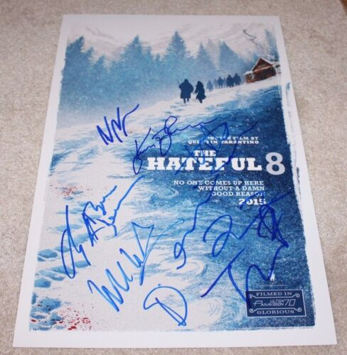 THE HATEFUL EIGHT CAST SIGNED MOVIE POSTER COA QUENTIN TARANTINO CHANNING TATUM