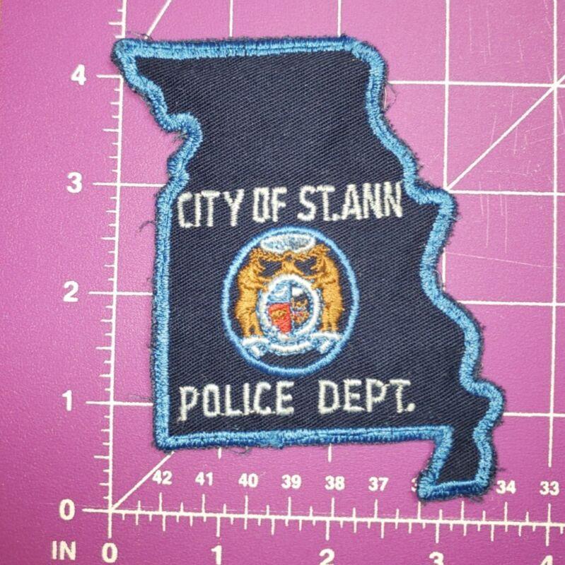 Vintage City of Saint Ann Missouri Police Dept. shoulder patch