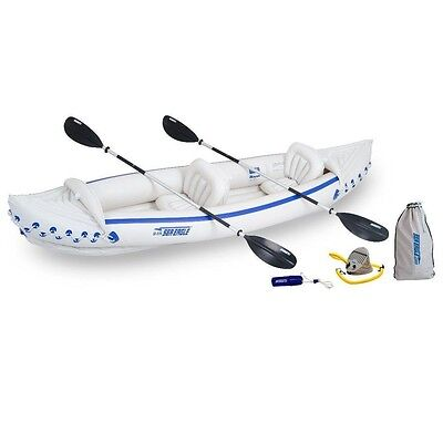 Sea Eagle SE370 Inflatable Kayak Deluxe Package, Holds 3 People up to 650 pounds