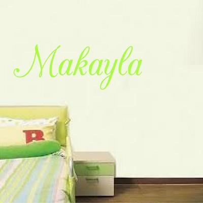 (Personalized  Girls Name girls room decor wall lettering decal sticker wall art)