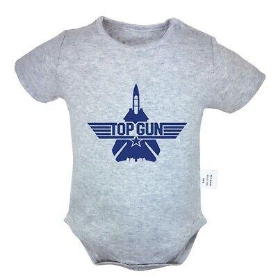 Top Gun Fancy Newborn Jumpsuit Unisex Baby Rompers Bodysuit Clothes Outfits Sets (Topgun Outfit)