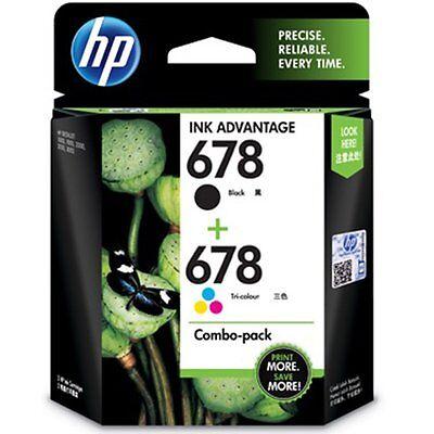 HP 678 Black/Tri-color Original Ink Advantage Combo Cartridge (L0S24AA) for sale  DELHI
