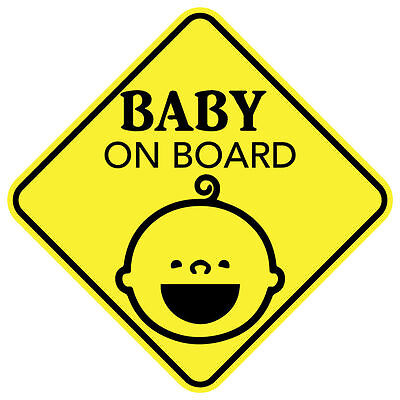 BABY ON BOARD SMILE MAGNET CHILD CAR SIGN MADE IN USA Buy 2 Get 3rd FREE Board Car Magnet
