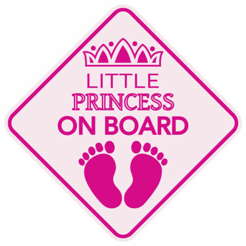 LITTLE PRINCESS ON BOARD STICKER DECAL 3M BABY CHILD CAR SIGN