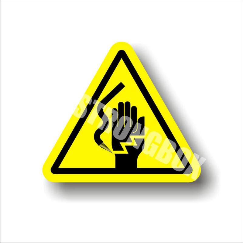 Industrial Safety Decal Sticker caution ELECTROCUTION / ELECTRICAL hazard label
