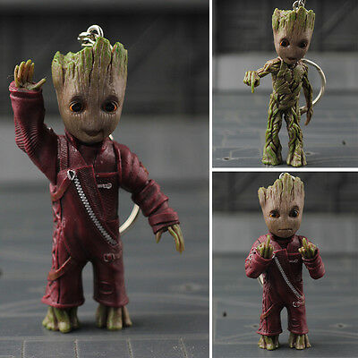 Guardians of the Galaxy Hand PVC Figure Key Chain Figur IB Vol.2 Baby Groot Wave