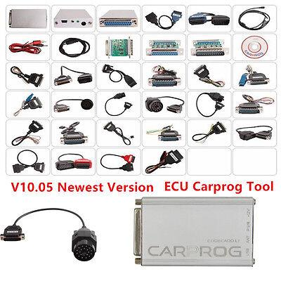 2017 V1005 ECU Carprog wAll 21 Item Adapters Full Version Car Programming Tool