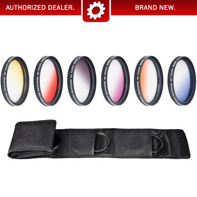 Camera Filters - 77mm Graduated Color Multicoated 6pcs Filter Set with pouch