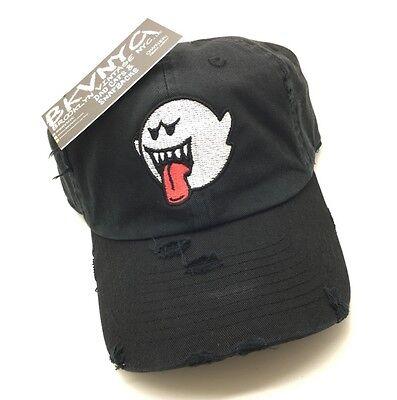 (Black Distressed Boo Mario Ghost Dad Cap Hat Bryson Tiller)