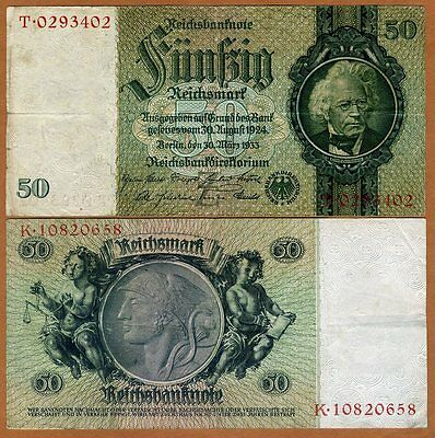 Germany, 50 Mark, 1933, P-182a, WWII, VG