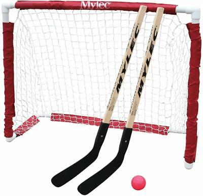 Kids Street Hockey Set Mini Goal Folding Net with Stick Ball Easy Storage New
