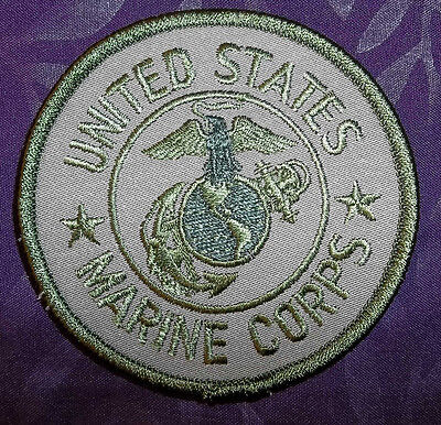 MARINE CORPS PATCH  U. S. M. C. GREEN USMC MILLITARY USA  DIY