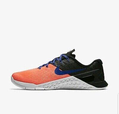 Wmns Nike Metcon 3 UK 6 EUR 40 Lava Glow Paramount Blue Black 849807 600