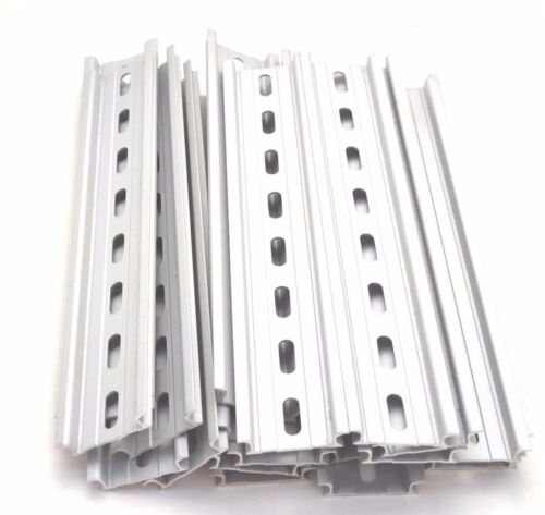 10 Pieces DIN Rail Slotted Aluminum RoHS 8 in. long 35mm 7.5mm 6.67 ft. Total