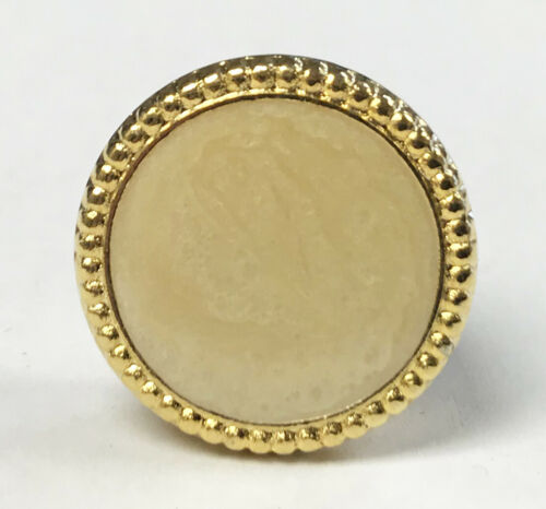 Gold Button Cover with Stone for Banded Collar Dress Shirt Nehru Mandarin Tuxedo
