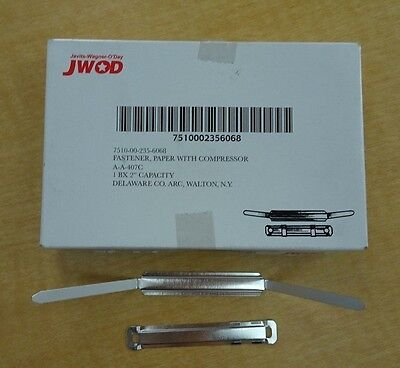 New In Package -jwod Paper Fastener With Compressor - 50 Pieces Per Box