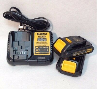 New 2 Dewalt DCB201 20V MAX COMPACT  LITHIUM ION Battery's and DCB107 (20v Max Compact)