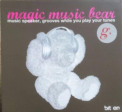 Dancing Magic music brown bear with headphone speaker Brand new in original box