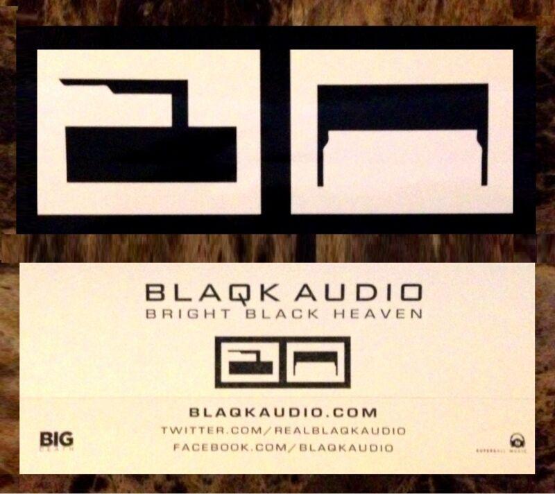 BLAQK AUDIO Bright Black Heaven RARE Sticker +FREE Rock Punk Alt Stickers! AFI