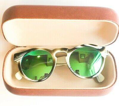 Illesteva leonard jcrew round frame tortoiseshell unisex sunglasses 48 22 145 w/