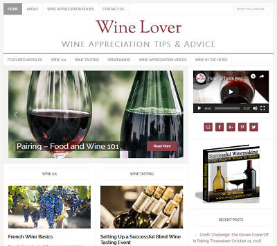 Wine Lovers Turnkey Website Business For Sale W Daily Auto Content Updates