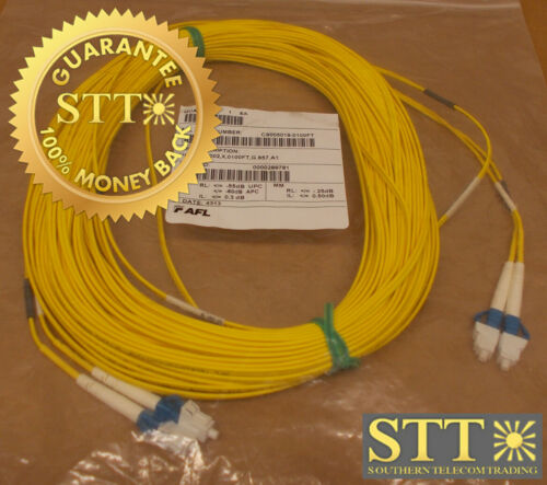 Cs005019-0100ft Afl Fiber Cable Sm Dual Lc/lc 100 Ft New