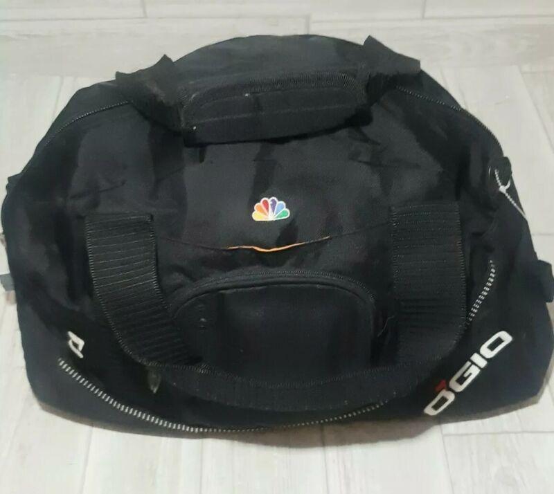 NBC Half Dome Gym Duffel Bag OGIO Audio Pocket Black Orange Tek Spec Promo