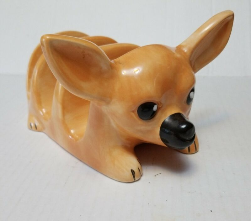 Story Teller Arts Chihuahua Dog Taco Holder Server Ceramic
