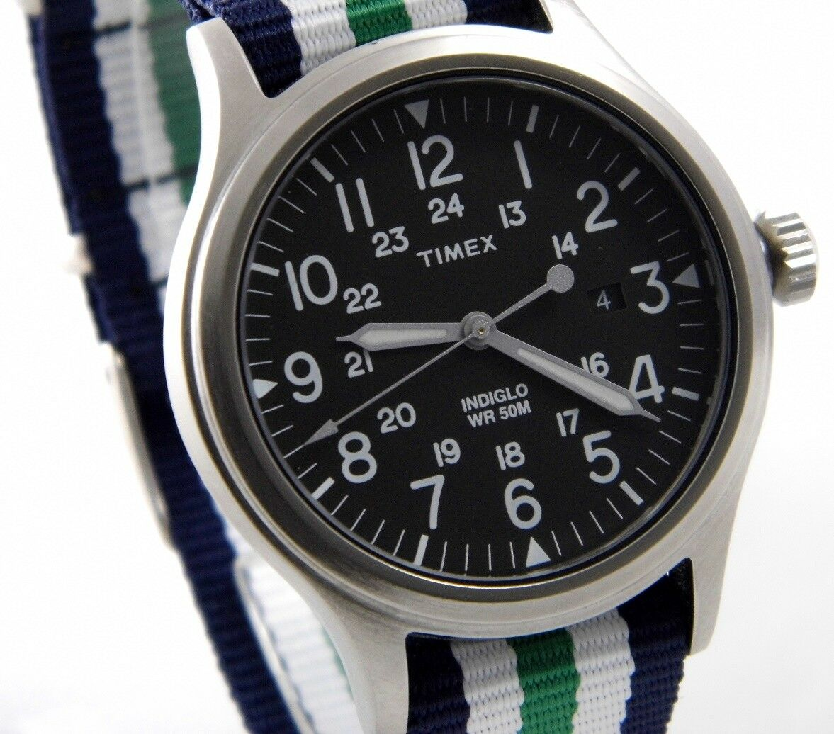 TIMEX UHR EXPEDITION SCOUT BROOK ABT010 Edelstahl Indiglo Beleuchtung > > > NEU