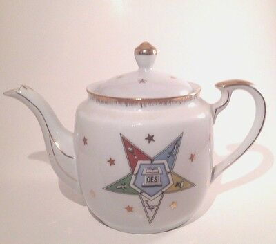 Lefton China Order of the Eastern Star OES Teapot No. 2725