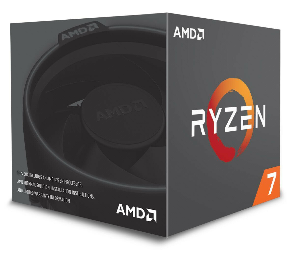 AMD Ryzen 7 2700 Processor with Wraith Spire LED Cooler (YD2700BBAFBOX) - New