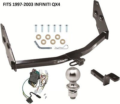 COMPLETE TRAILER HITCH PACKAGE W/ WIRING KIT FITS 1997-2003 INFINITI QX4 NEW
