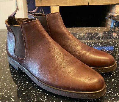 Mens Size 10 Hush Puppies Chelsea Boots Tan Brown