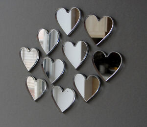 Acyrlic-Mirror-Hearts-Stars-Packs-Of-10