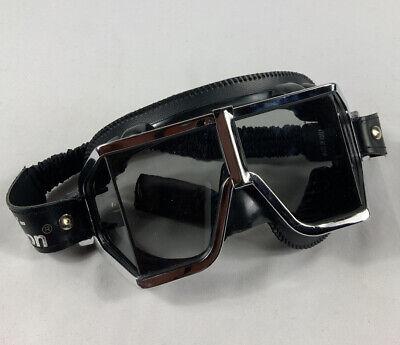 Vintage Harley Davidson Goggles Over Glasses Model Black Leather
