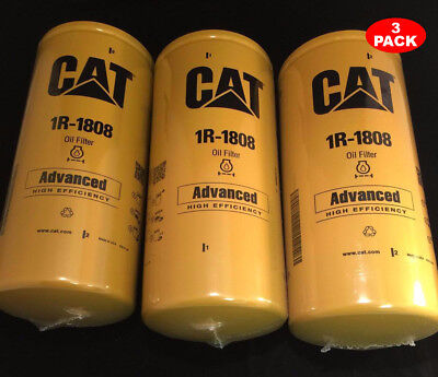 3 Pack New Cat 1r-1808 Filter As Caterpillar Oem 1r1808