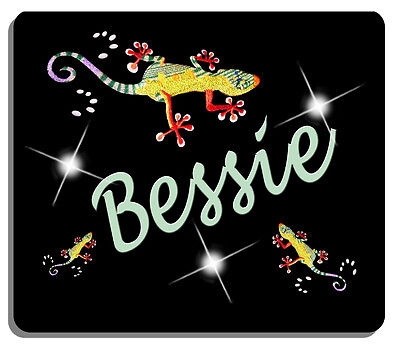 Gecko Lizard Mouse Pad Personalize With Name Or Text Gifts Ladies Men Computer