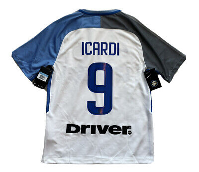 2017/18 Inter Milan Away Jersey #9 Icardi Medium NIKE Soccer Internazionale NEW image