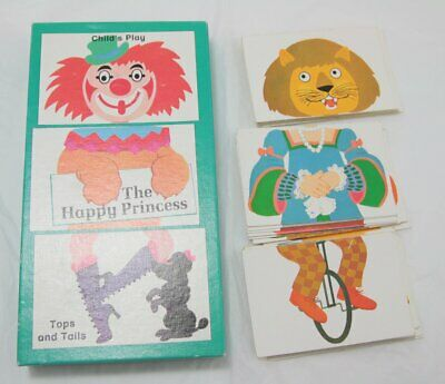 VIntage Child's Play The Happy Princess Tops and Tails Card Game Germany 1982 for sale  Shipping to Nigeria