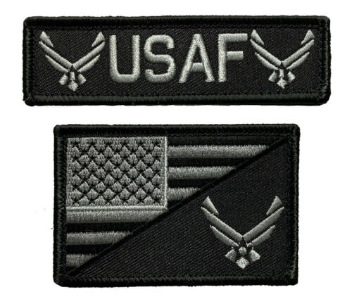 "USA American Flag Air Force Patch (2PC ""Velcro Brand"" Fastener - A1-A2)"