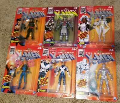 "Marvel Legends Uncanny X-Men Retro 6"" figure set"