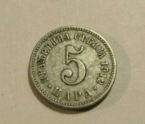 Serbia 1912 5 Para Coin