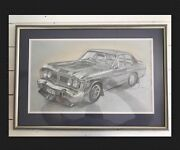 1971 Phase 3 GT Falcon Original Artist Pencil Sketch 1994 Signed Highgate Hill Brisbane South West Preview