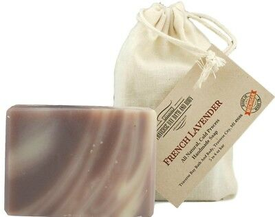 French Lavender, all natural handmade soap, Cold process, Large 5.5-6 oz