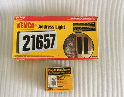 Hemco Adress Light Low Voltage Hemco Plug-in Transformer