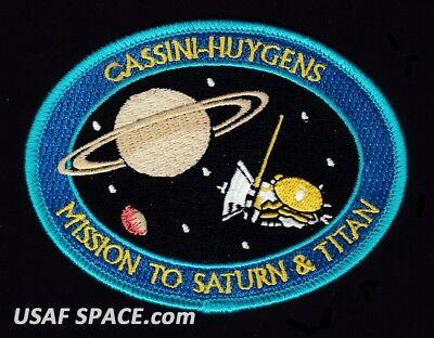 CASSINI HUYGENS MISSION TO SATURN & TITAN NASA JPL SPACE Mission PATCH