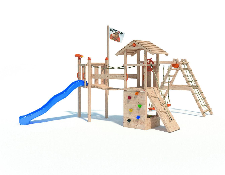 Klettergerüst Isidor : Isidor goufy spielturm kletterturm spielhaus kletterwand