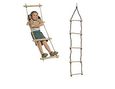 Strickleiter von Oskar 190 cm Seilleiter mit 5 Holzsprossen Klettern Spielturm