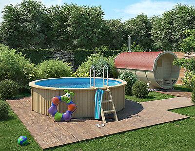 schwimmbecken holzoptik 3 60 x 1 07 m rundbecken. Black Bedroom Furniture Sets. Home Design Ideas