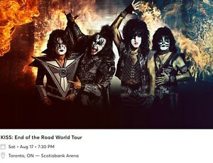 PAIR OF KISS END OF THE ROAD TOUR TICKETS